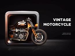 超写实Vintage motorcycle