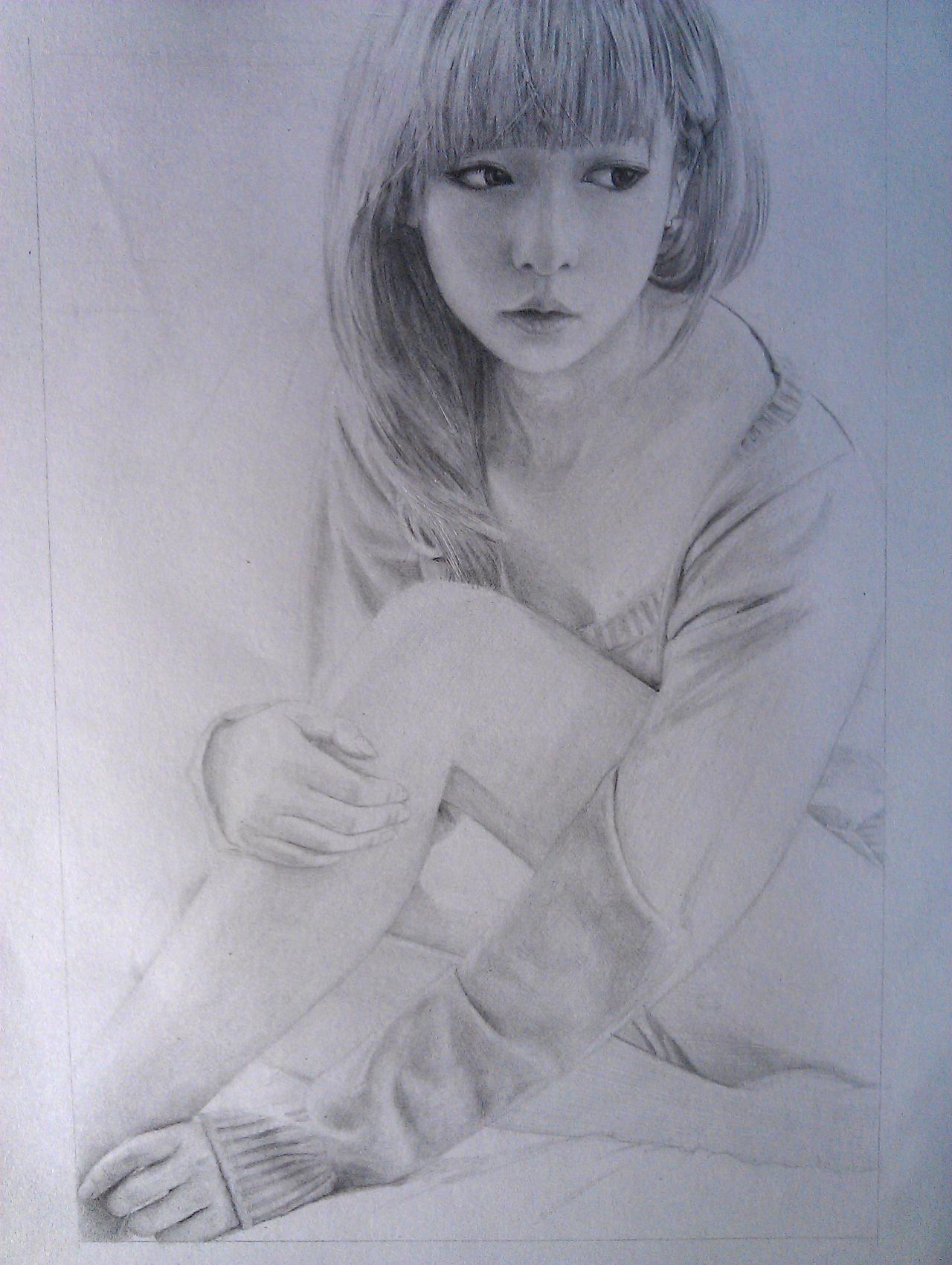 【铅笔画人物女孩漫画】火影铅笔