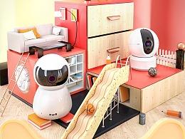 天猫超级品类日版头设计-智能摄像头专场