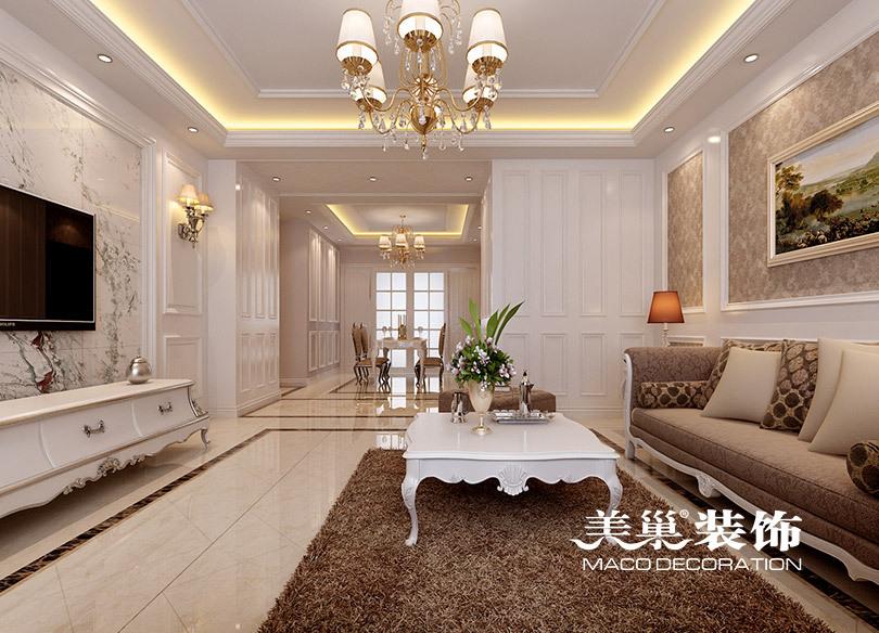 郑州新芒果春天装修效果图160平四室两厅简欧设计方案图片