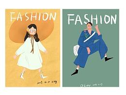 2019年底的一些练习插画