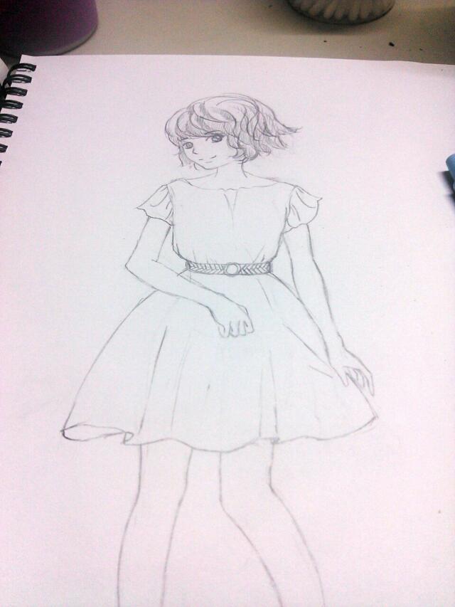 手绘设计图衣服