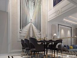 Art Deco 风格室内设计住宅方案