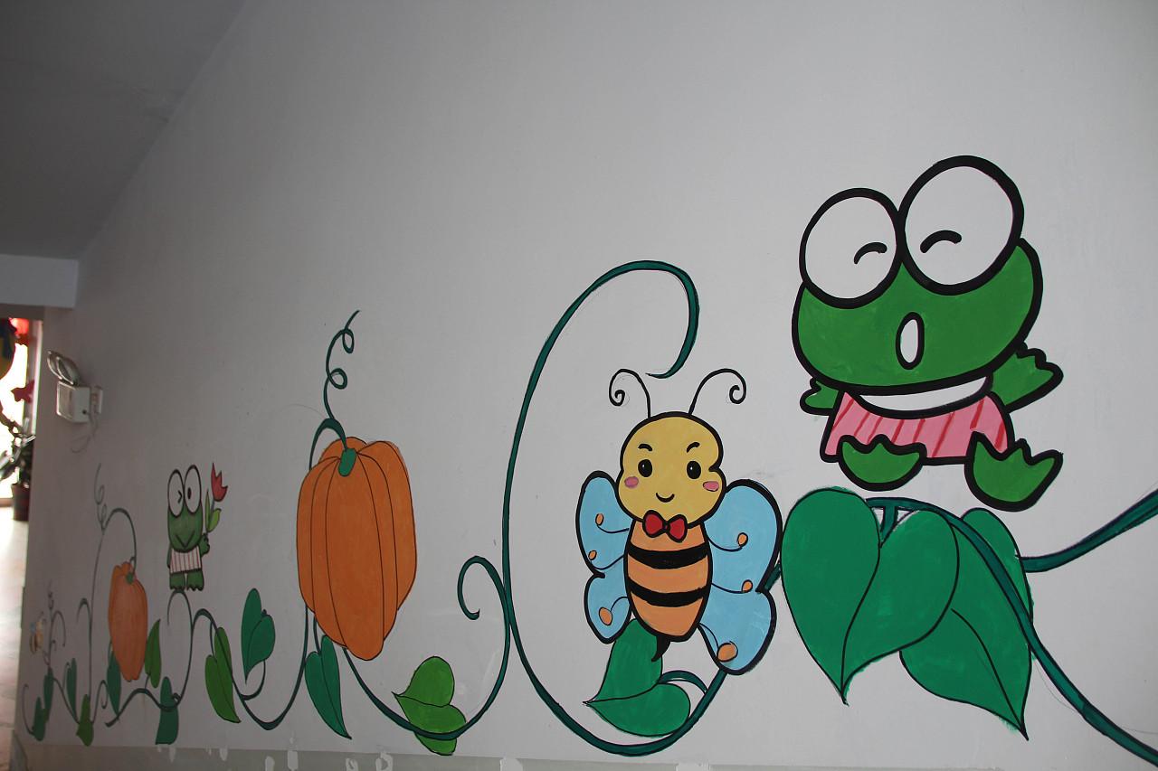 菠萝创意手绘-墙绘作品
