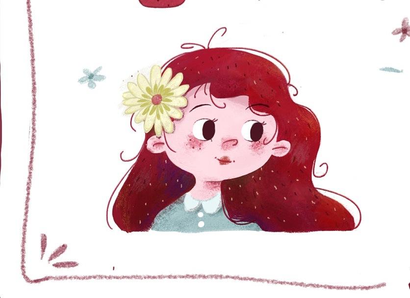精致猪猪女孩|插画|插画习作|小小油儿 - 原创作品 - 图片