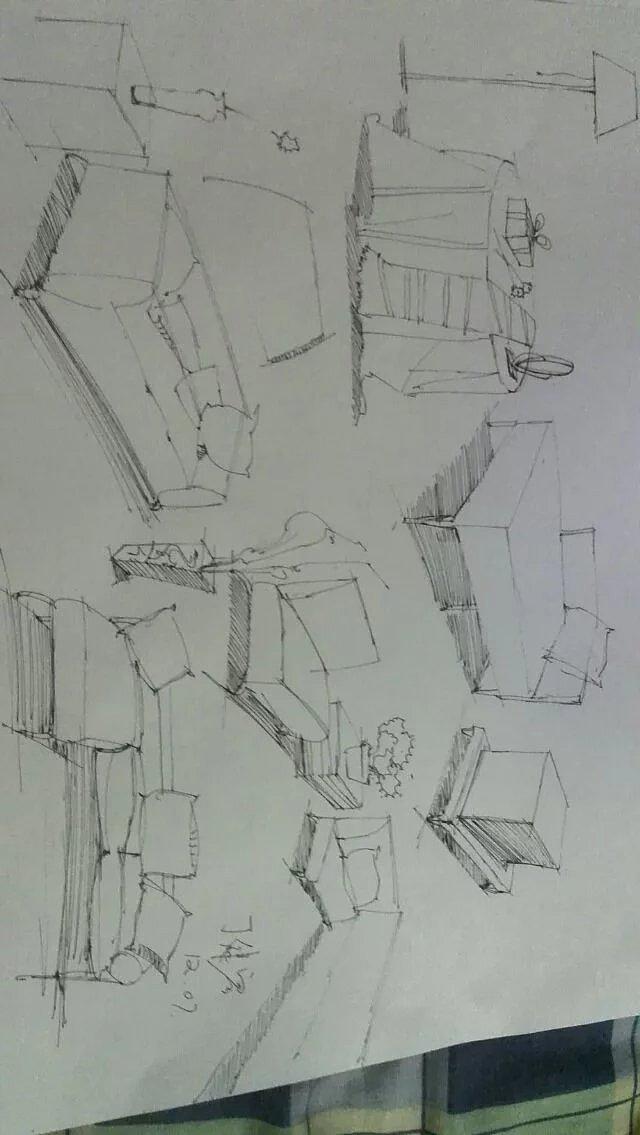 手绘习作|空间|室内设计|djr1210 - 原创作品 - 站酷
