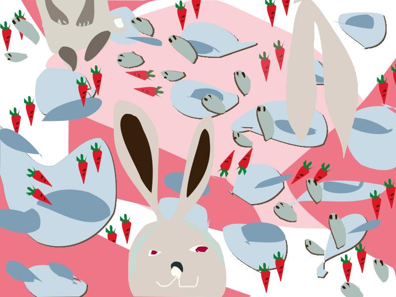 兔子与萝卜的故事|dm/宣传单/平面广告|平面|一二