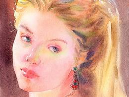 水彩人物 荷丽黛·格兰杰绘画步骤分享