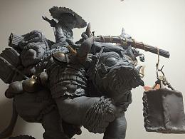 降魔兽·师徒 雕像 雕刻创作分享