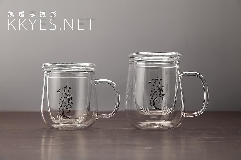 玻璃水杯 茶杯 静物拍摄图片