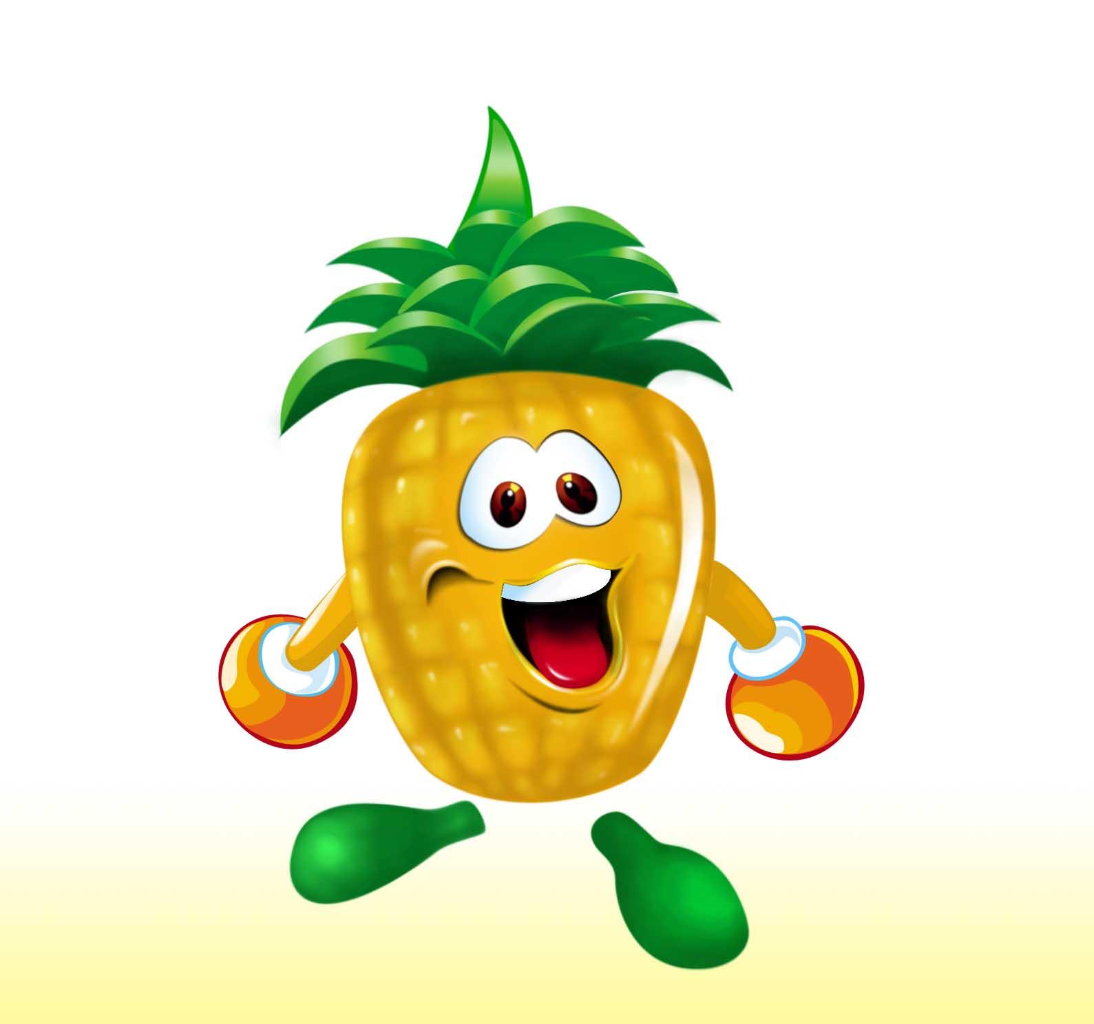 菠萝卡通形象