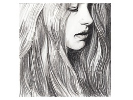 【驴大萌彩铅教程273】素描手绘 长发侧颜小姐姐