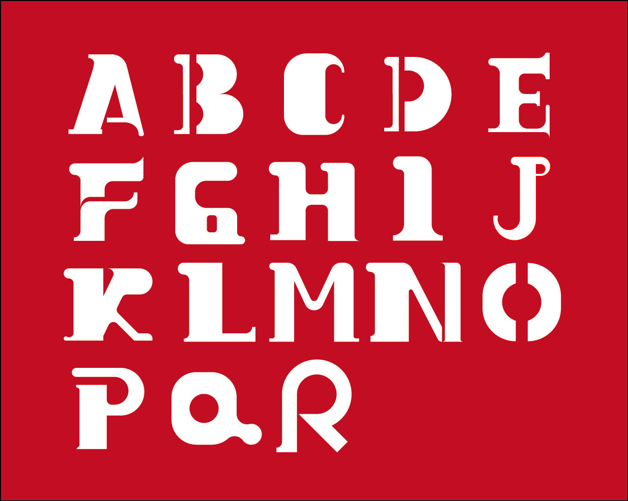 26个英文字母设计