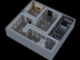 江苏科技展厅展馆 3D效果图设计 建模