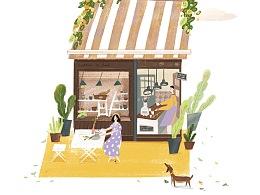 九份的咖啡店