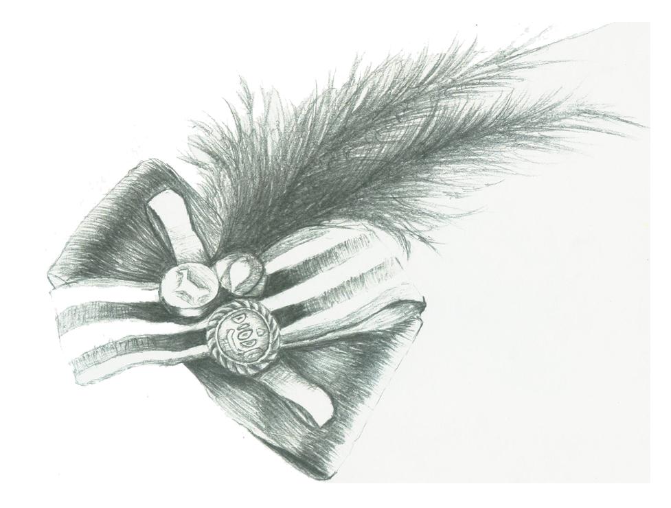 羽毛图片手绘素描