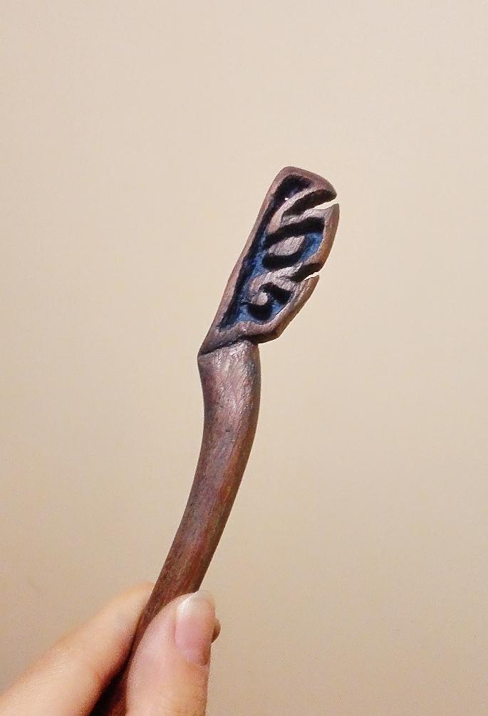 木雕簪子|首饰|手工艺|6cat