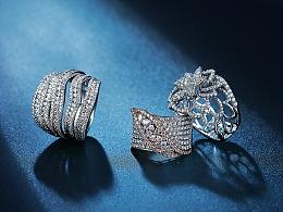 珠宝产品白底/场景拍摄及修图