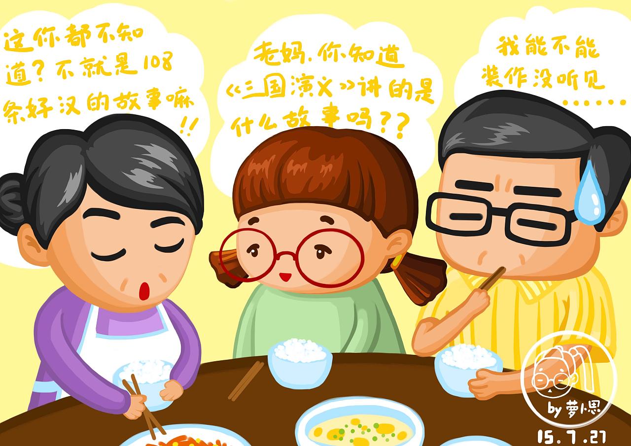 吃晚饭的时候,看到电视上竞猜《三国演义》图片
