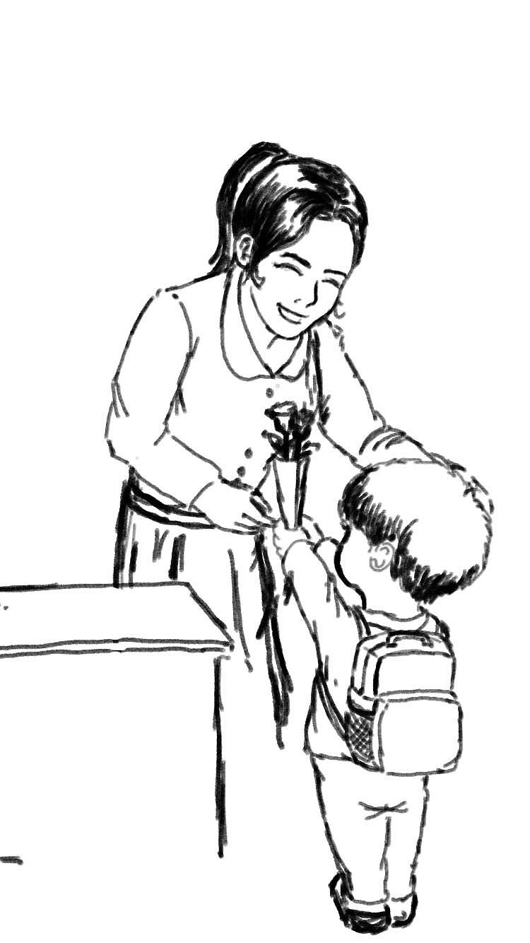 教师节鼠绘插画