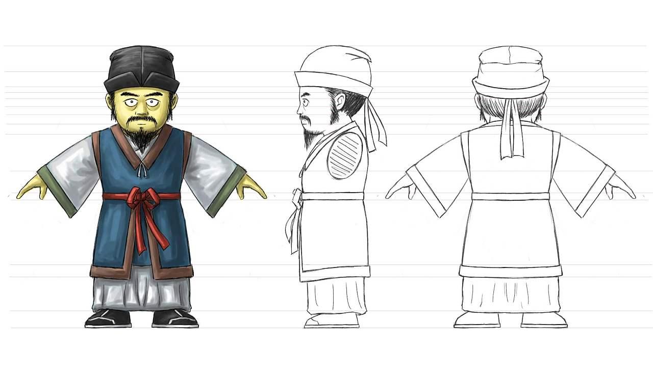 卡通大名皇帝头像