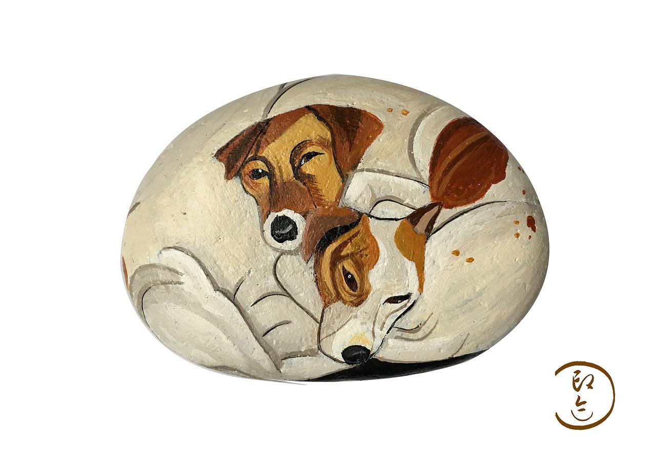 石头画手绘
