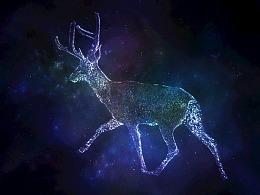唯美梦幻星空麋鹿