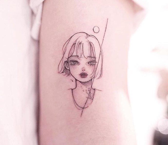 卡通简老师笔画纹身纹身赏析漫画设计.重庆迦人物人物俊a卡通图片