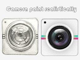 手绘相机Camera拟物图标