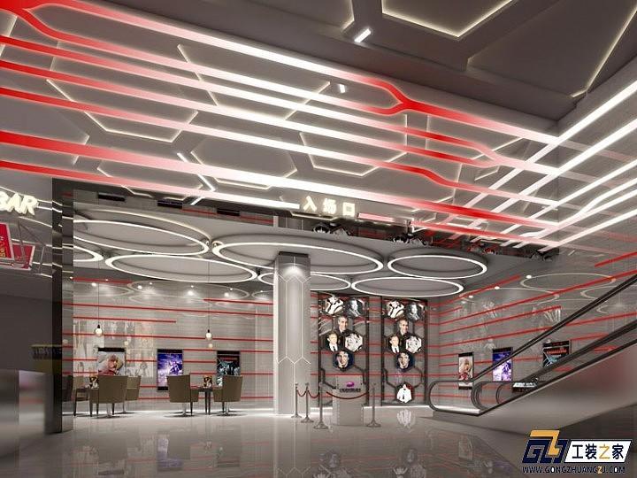 西安工装设计图_西安高新区电影院装修设计图|空间|室内设计|工装之家装修网 ...