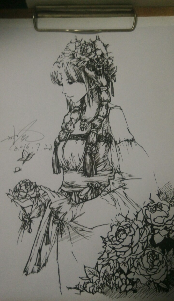简笔画 手绘 素描 线稿 720_1243 竖版 竖屏