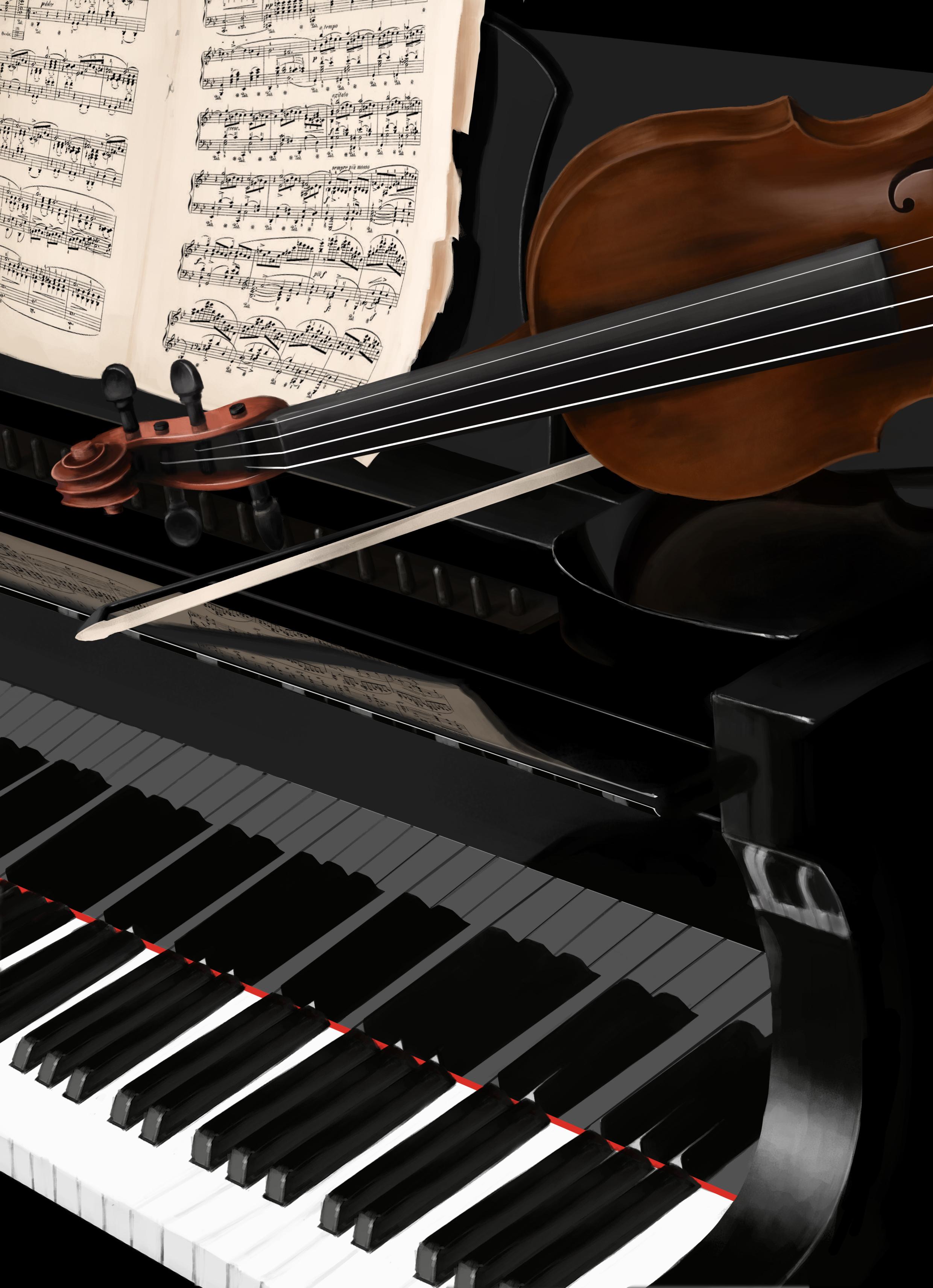 钢琴小提琴临摹