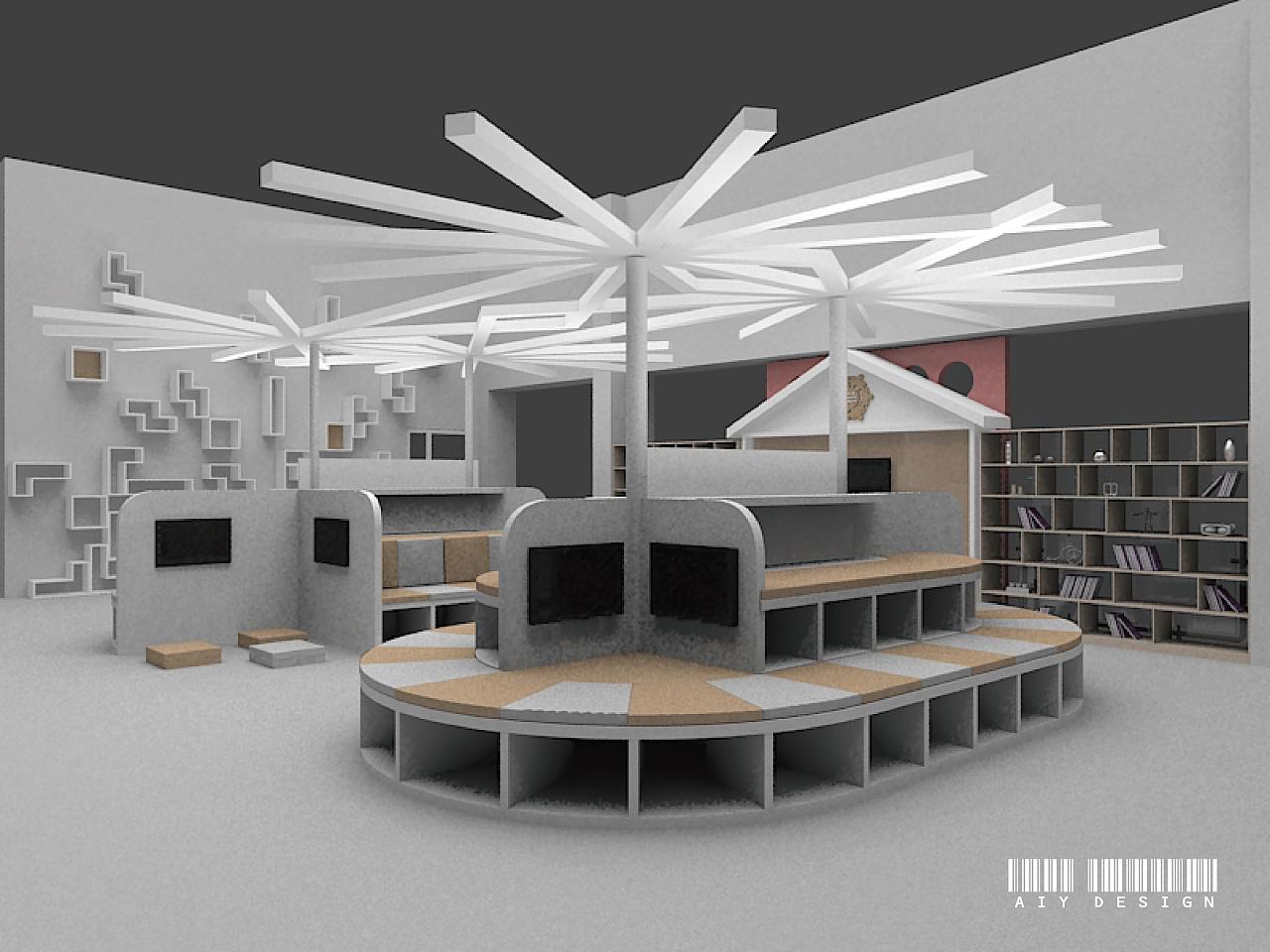 b类:校园文化 书吧 空间 展示设计  dmhulinbao图片