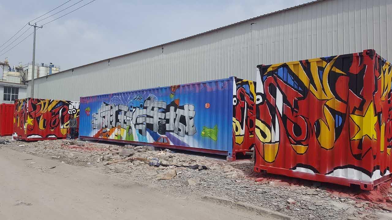 室内装潢设计师证_精美涂鸦——集装箱涂鸦 其他 墙绘/立体画 云在室内墙绘公司 ...