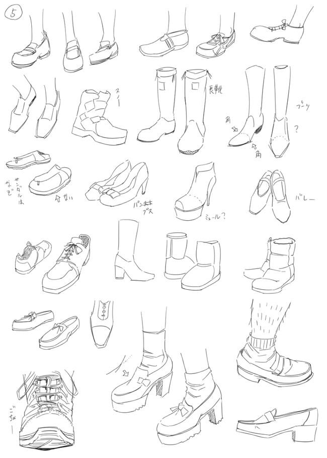教程:教你如何画好漫画教程 - 鞋子和腿部的练习参考(原创文章)
