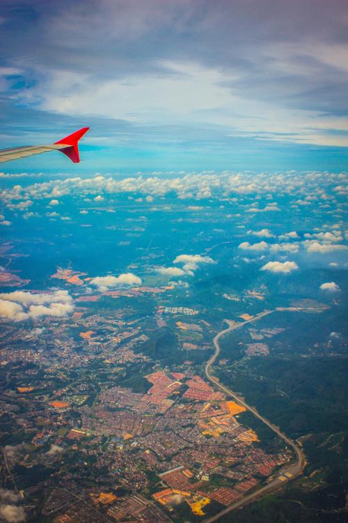 原创作品:飞机上的风景