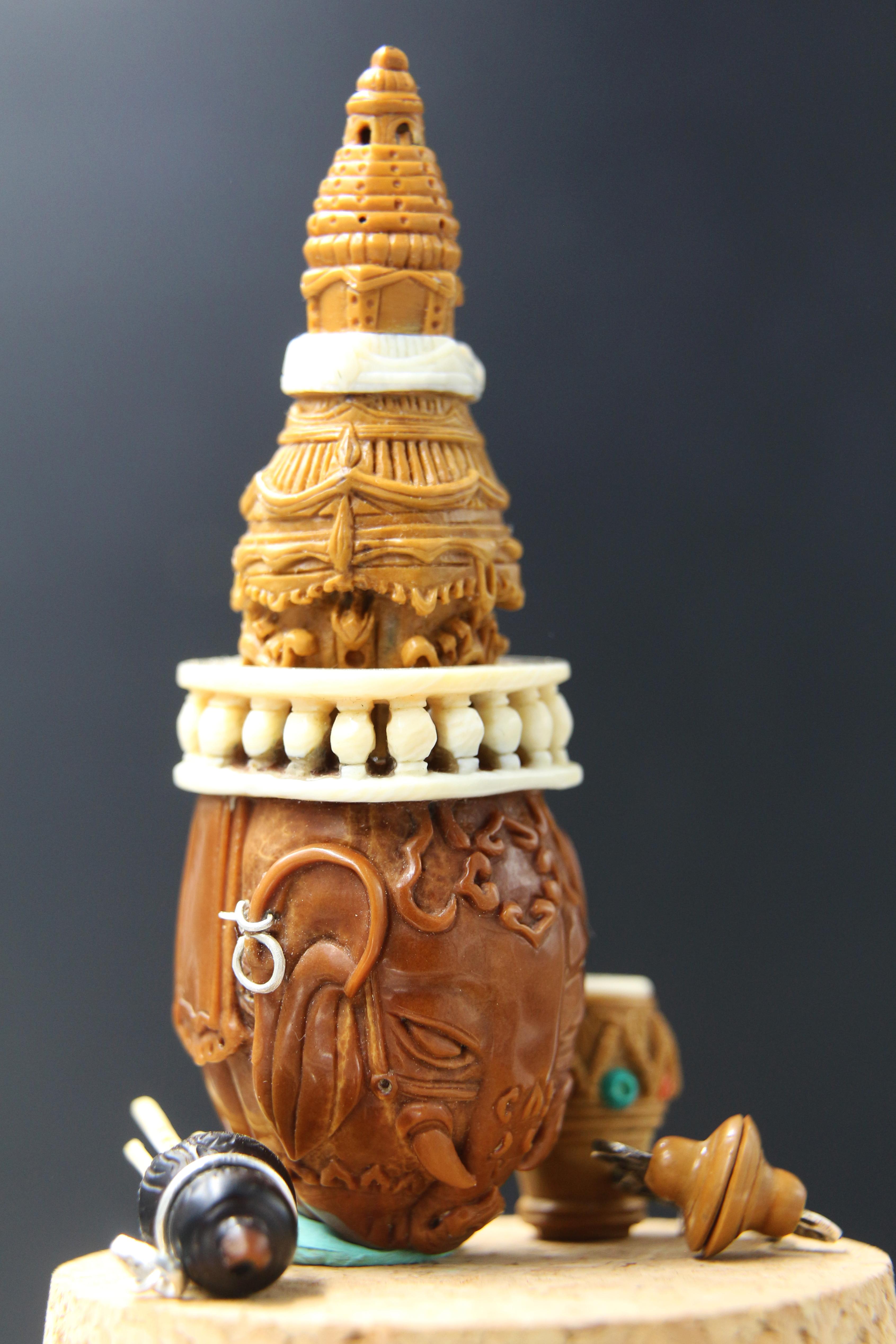 象驼金塔与傣族乐器|手工艺|工艺品设计|hauru - 原创