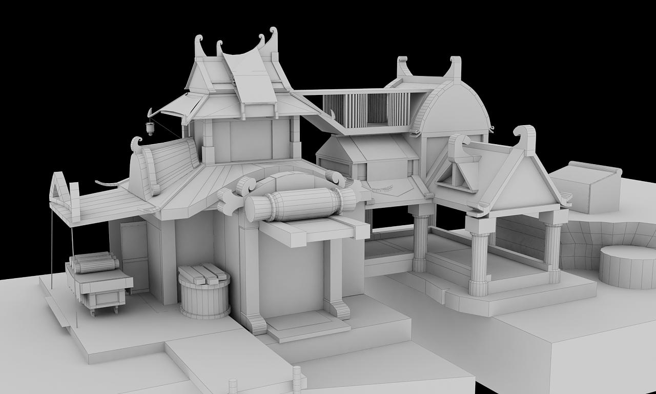 3d游戏房屋建模