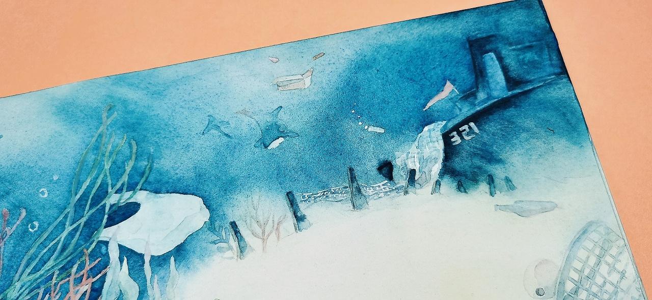 梦见自己变秃头了_海洋环保 水彩手绘 《梦见自己变成一头虎鲸》|插画|绘本|臨云 ...