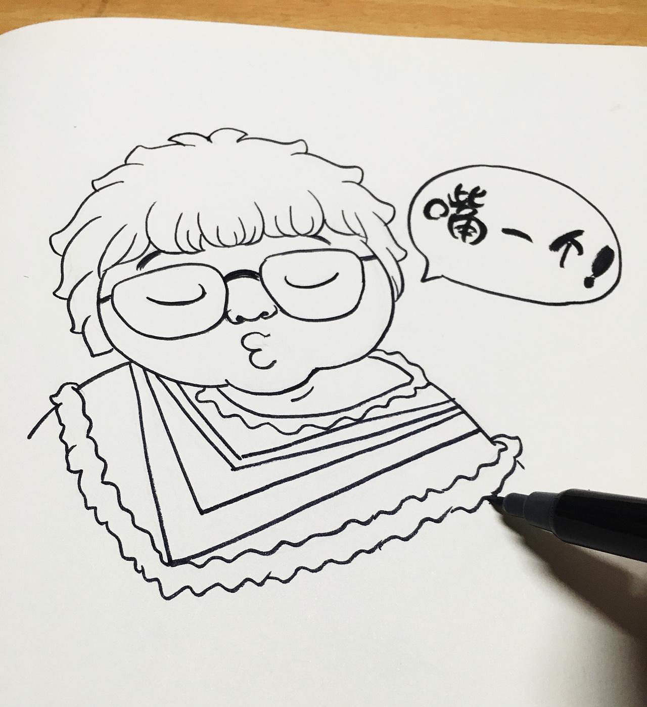手绘插画,人物