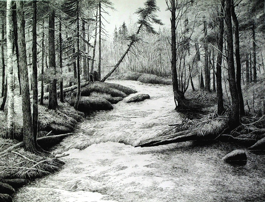 原创作品:风景钢笔画
