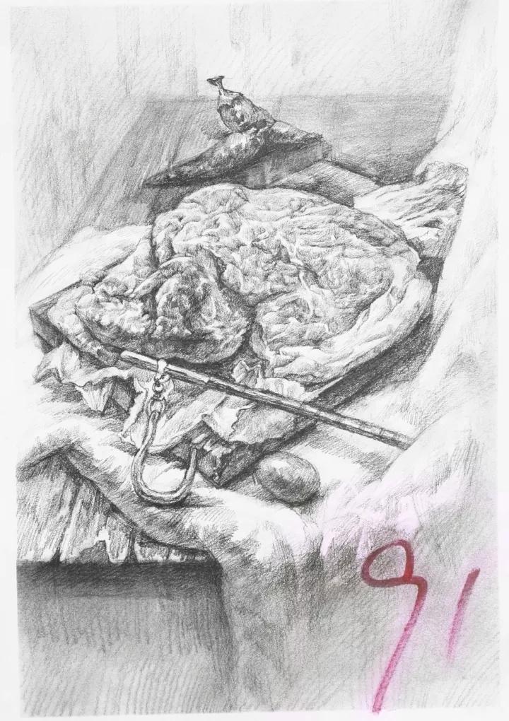 广东省2018美术模拟联考素描高分卷|纯艺术|素