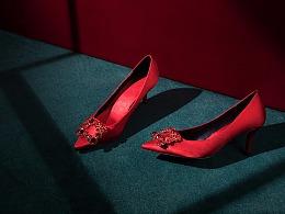 唯品会女鞋入口广告图拍摄