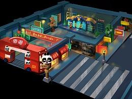 巴布熊猫-香港展馆概念图