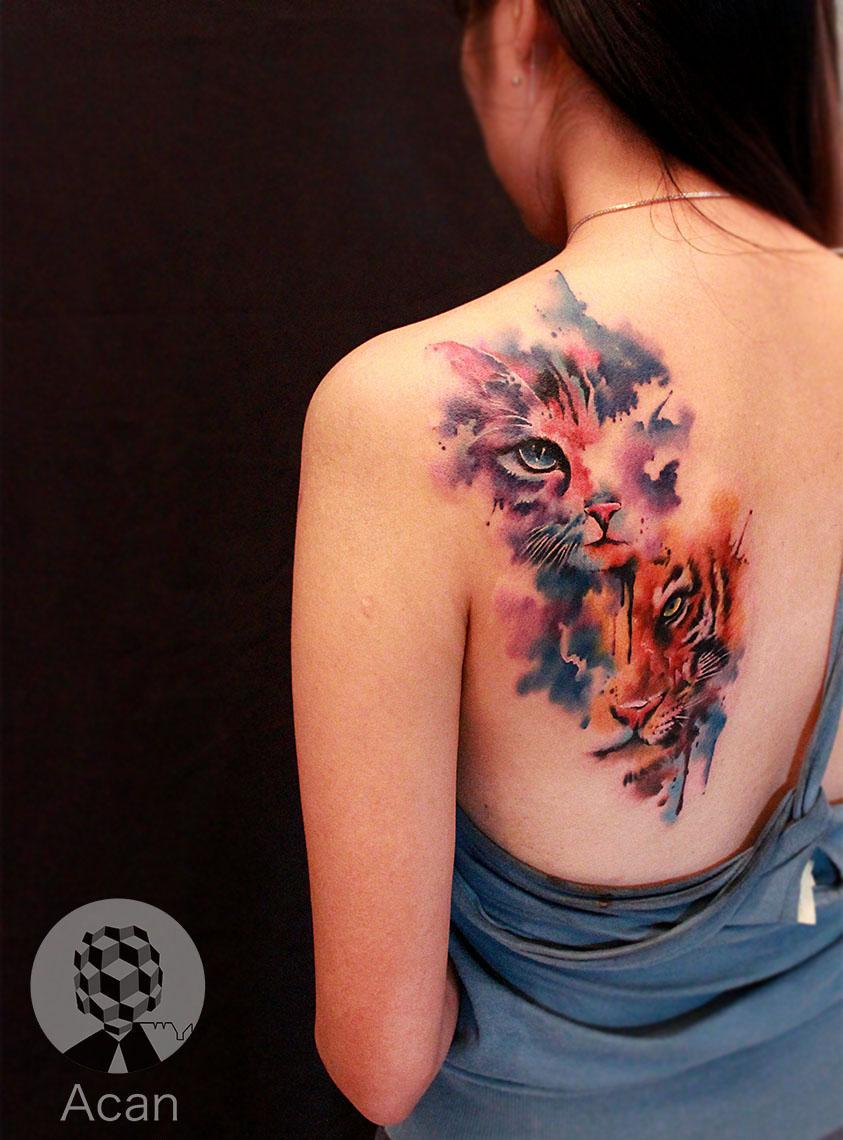 原创作品:猫纹身图片