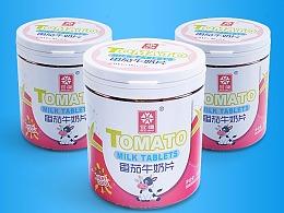 JZ食品详情番茄牛奶片详情页制作