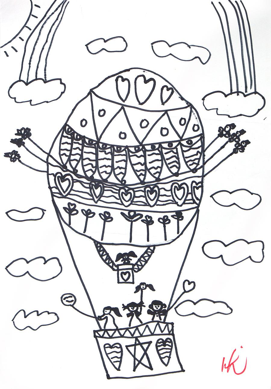 原创作品:热气球图片