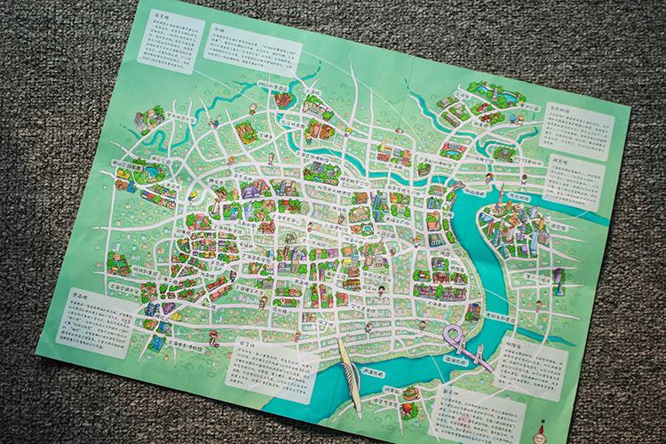 上海手绘地图|商业插画|插画|石头人旅行册 - 原创