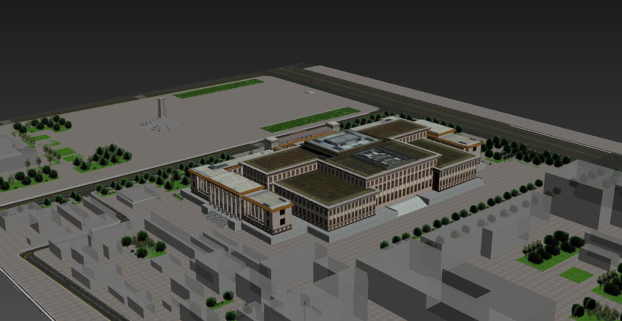 室外建筑模型