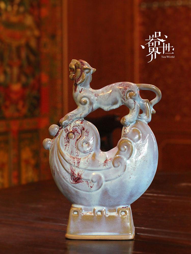 器世界 中国名窑神州钧瓷-虎跃新程 艺术品摆件欣赏图片